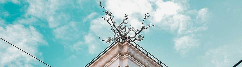 Dettaglio del terrazzi di un palazzo storico genovese