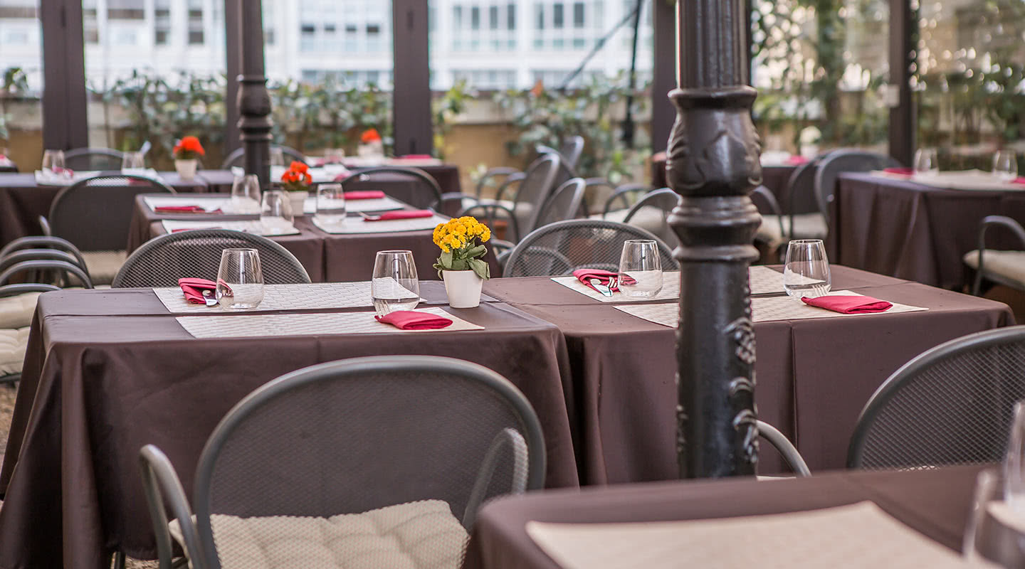 The Terrace Of Giotto Restaurant Hotel Bristol Palace 4